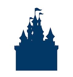 Icon castle silhouette vector