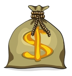 Money bag with dollar vector image