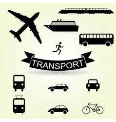 set of icons vehicles vector image