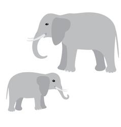Big and little elephant vector image