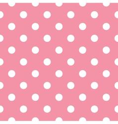 Pink polka dot seamless pattern design vector image