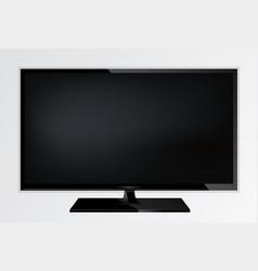plasma lcd modern tv screen vector image