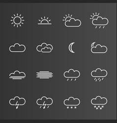 set of simple weather icons vector image
