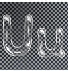 Bubbles letters U vector image vector image