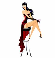 burlesque girl vector image