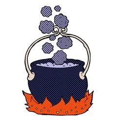 comic cartoon witchs cauldron vector image