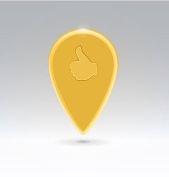 golden like point map vector image