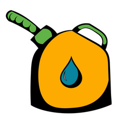 jerrycan with flexi pipe spout icon icon cartoon vector image