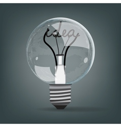 light bulb idea vector image