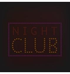 Night Club banner vector image
