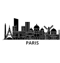 paris architecture city skyline travel vector image
