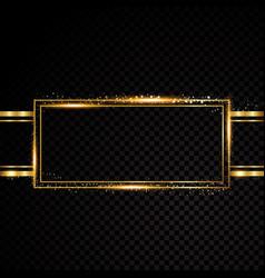 rectangle frame shining circle banner vector image vector image