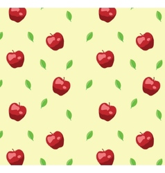 Red apple seamless pattern in retro style vector image