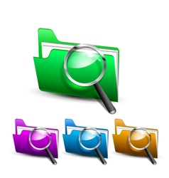 search folder vector image