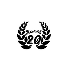 20 years anniversary sign element of anniversary vector image