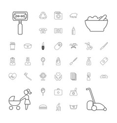 37 care icons vector