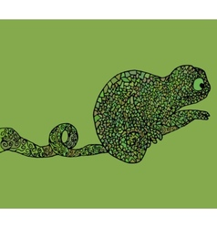 Abstract chameleon african vector image
