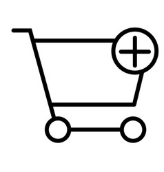 Add items to shopping cart thin line icon 48x48 vector