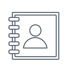 address book symbol vector image
