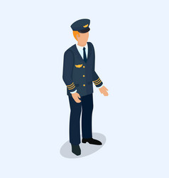 aviator pilot figure isolated on a light vector image