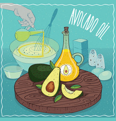 avocado oil used for cooking vector image