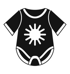 Baby bodysuit icon simple style vector