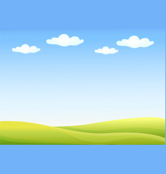 background nature landscape with sky hills and vector image