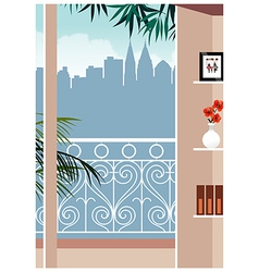 Balcony Skyscape View vector