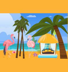 beach ocean coast summer resort background vector image