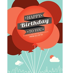 Birthday card design template vector image vector image