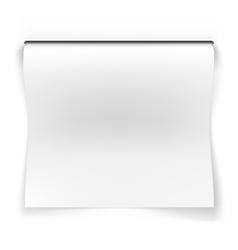 Blank sheet of slots vector image