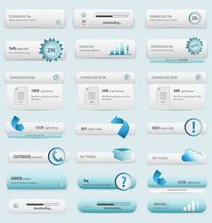 Blue business buttons vector
