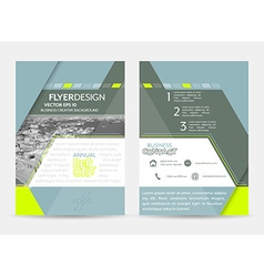 Business flyer or cover design with abstract vector image