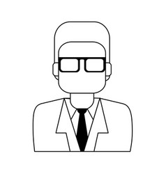 Businessman with glasses icon image vector