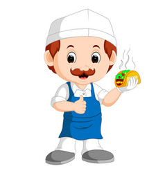 Cartoon cute funny chef vector