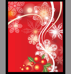 chistmas background vector image