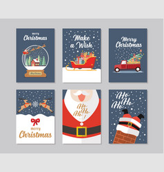 christmas gift cards collection vector image