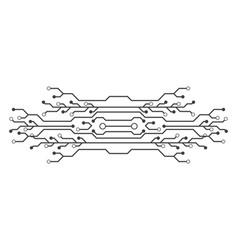 Circuit icon design vector