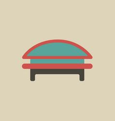 Circular park bench vector