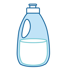 cleaner bottle laundry product vector image