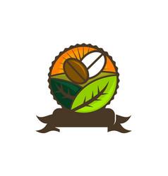 coffee seed garden vector image