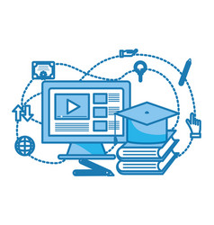 Computer video icon vector