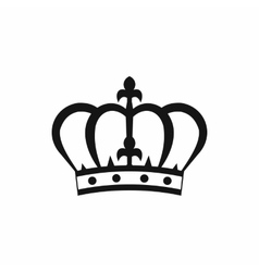Crown icon in simple style vector