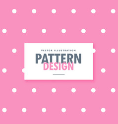 cute pink background with white dots vector image