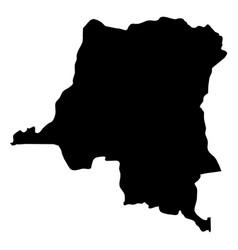 democratic republic of the congo - solid black vector image