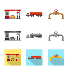 design of oil and gas logo collection of vector image