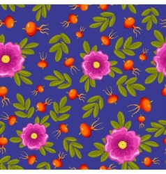 dogrose seamless pattern vector image