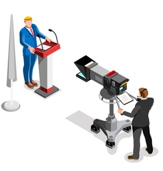 Election News Infographic Presidential Isometric vector image
