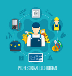 Electrician round composition vector