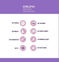 Epilepsy seizures prevention conceptual vector